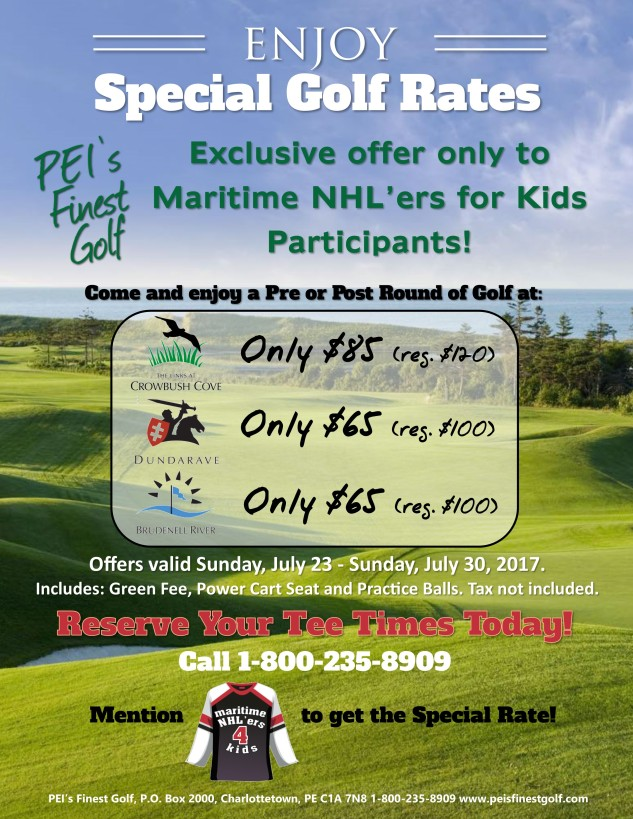 PEIs Finest Golf Special Rates 2017